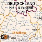 Karte Postleitzahlen Deutschland, Postleitzahlenkarte Deutschland 5-stellig, AI, Download, Bearbeitbar, Vektorkarte, Vektor, Vektorgrafik